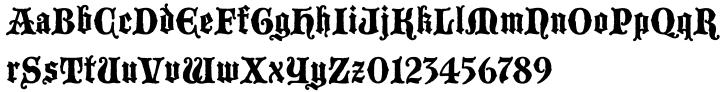 Blackmoor™ Font Sample