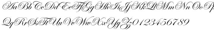 ITC Edwardian Script™ Font Sample