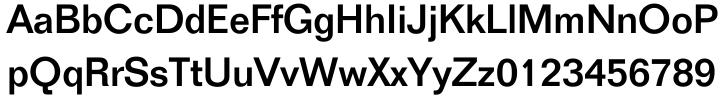 Folio® Font Sample