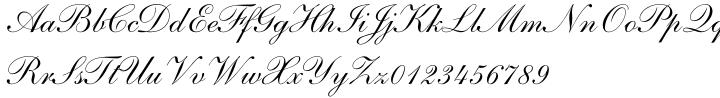 Shelley Script® Font Sample