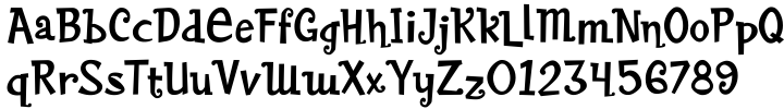 Baileywick Festive JF Font Sample