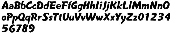 Wonderboy JF Font Sample