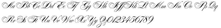 Alexandra Script Font Sample
