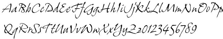 ITC Grimshaw Hand™ Font Sample