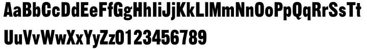 Gothic 13™ Font Sample