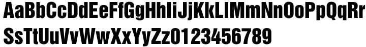 Helvetica Inserat® Font Sample