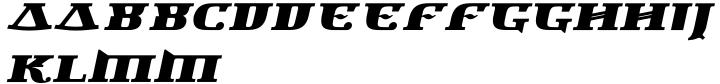 Newspeak Font Sample