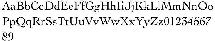 Cochin® Font Sample