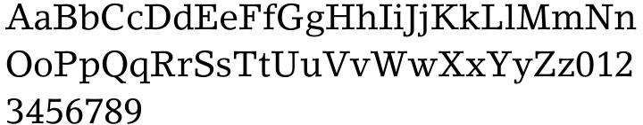 LinoLetter™ Font Sample