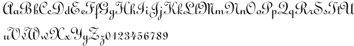 Linoscript® Font Sample