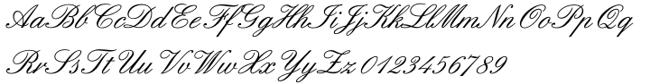 English 157 Font Sample