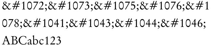 Original Garamond Font Sample