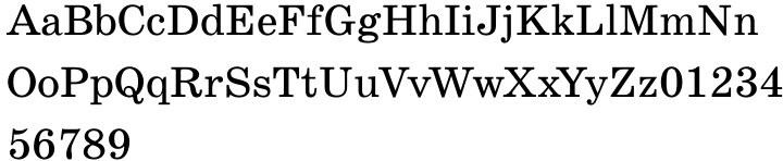SchoolBook Font Sample
