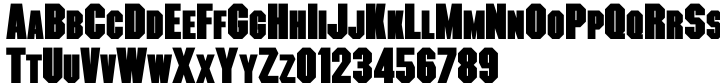 OL Machina Black Font Sample