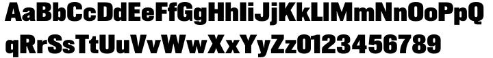 Gusto Black® Font Sample