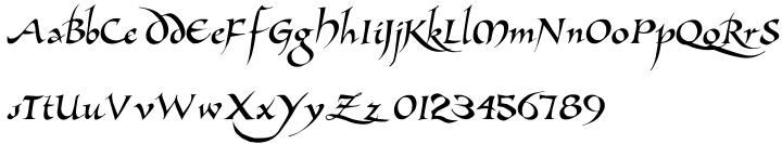 Allembert Font Sample