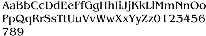 Baldessare Font Sample
