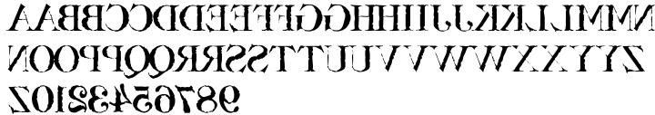 Bassackwards Font Sample