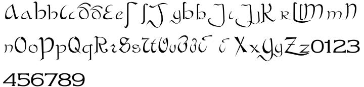 Bastarda Font Sample