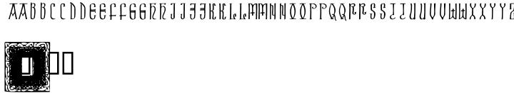 Celtic Initials Font Sample