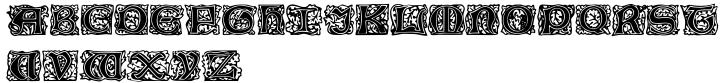 Chaucerian Initials Font Sample