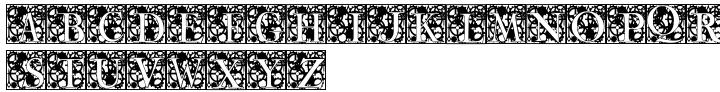 Clockwork Initials Font Sample