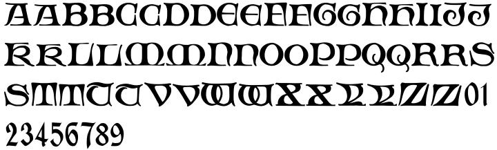 Fabliaux Font Sample