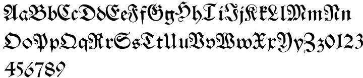 Franconian Font Sample