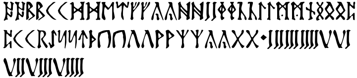 Futhark Font Sample