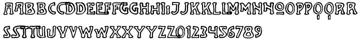 Jugenstil Kunsthand Font Sample