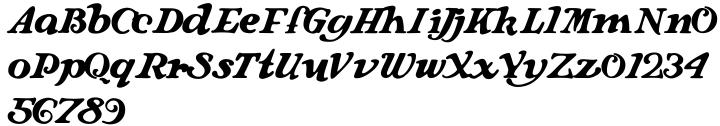 Langhorne Font Sample
