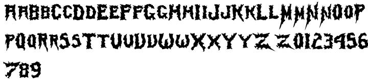 Mayhem Font Sample
