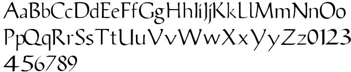 Publius Font Sample