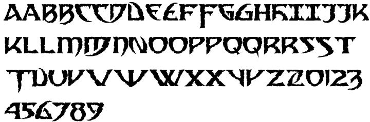 Samedi Font Sample