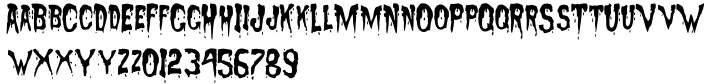 Sanguinary Font Sample