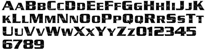 Starfield Font Sample