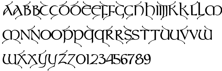 Teyrnon Font Sample
