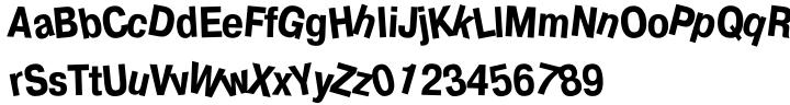 Drunk Font Sample