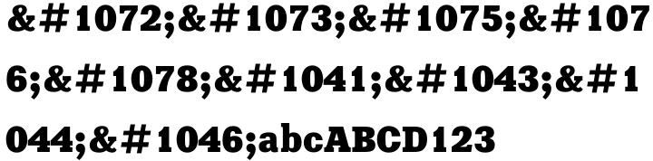 Xenia Font Sample