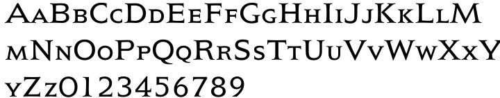 President Font Sample
