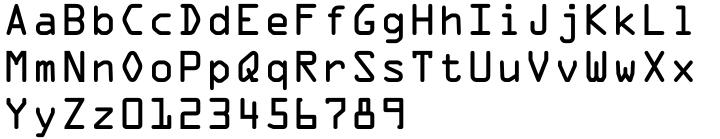 OCR-A Font Sample