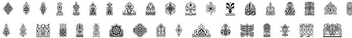 Henman Pictograms™ Font Sample