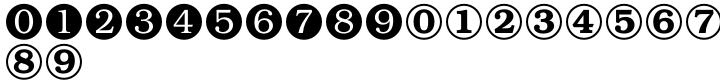 Numerals Font Sample