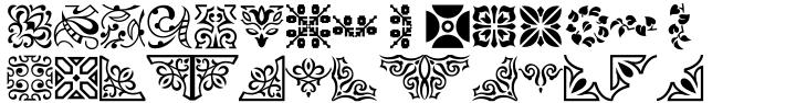 Ornament Font Sample
