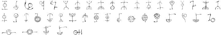 Petroglyph™ Font Sample