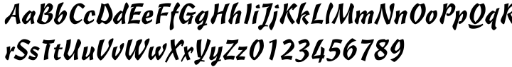 Cascade Script® Font Sample