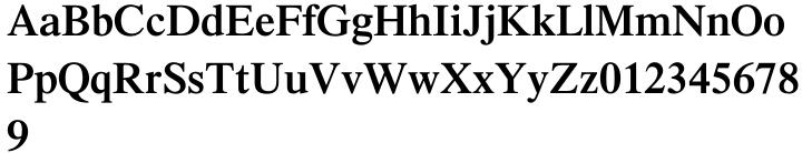 Times® Font Sample