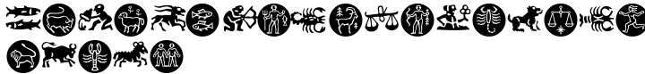 Zodiac Font Sample