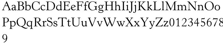Horley Old Style® Font Sample