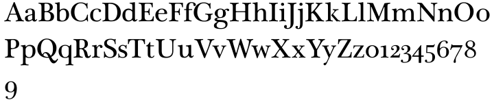Plantagenet Font Sample